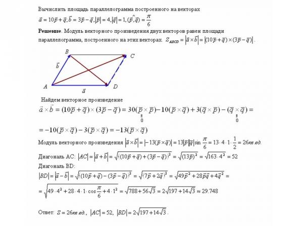 объем параллелограмма построенного на векторах чему снится