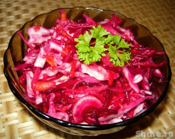 Салат из капусты и свежей свеклы рецепт очень вкусный с