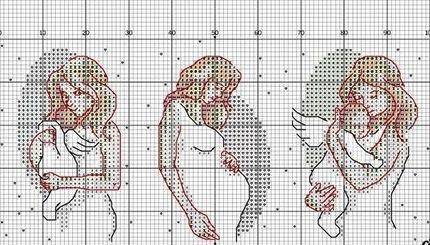 Беременная вышивка крестом