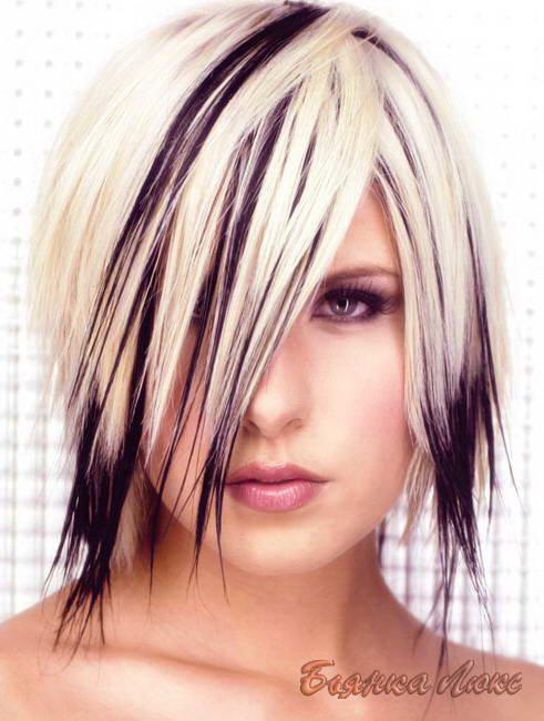 черно белое колорирование волос видео