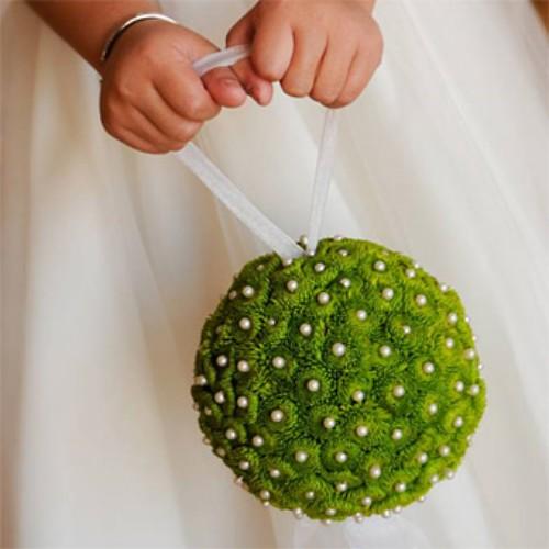 Цветок в виде шарика своими руками