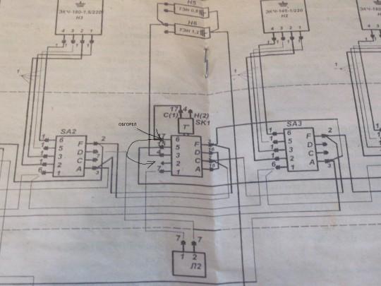 Схема переключателя духовки зви